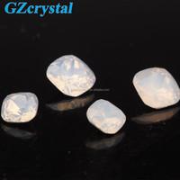 Square shape white opal synthetic quartz crystal stones