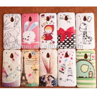 TPU Silicone Printed Case Cover Back Bumper Protection Rubber For HTC One Mini M4 New