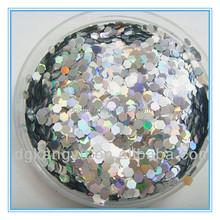 hexagonal Good quality sequins flakes glitter powder