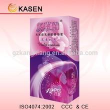 Oem 12 unids embalaje vida feliz condones creativos, mejor calidad natural condones de látex