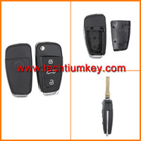 Plastic ABS 3 button modified remote key case shell for Audi remote key case shell replacement with Metal logo&battery base