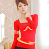 Women's Lace Embroidered Long Sleeve Inner Wear Thermal Underwear