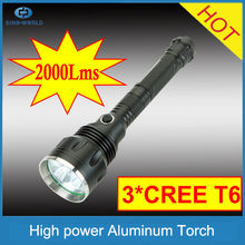Aluminum flashing light waterproof hunting torch most powerful led light police lights