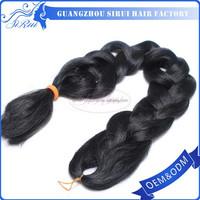 Wholesale price cheap marley braid hair extension, dropship remy hair, heat resistant kanekalon jumbo braid synthetic hair