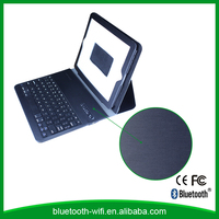 Shenzhen factory wholesale mini bluetooth keyboard for tablet with PU-leather cover,bluetooth keyboard with case for ipad