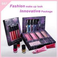Waterproof Lip gloss,private label Lip gloss set eyeshdow