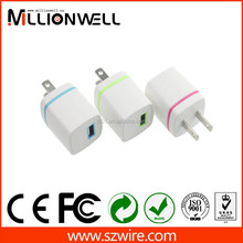 5v 1a slim micro usb wall charger plated wholesale, portable mobile phone charger