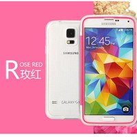 For Galaxy S5, [Full Window] Ultra-Soft PC Back Cover Protective 3 in 1 Transparent Color [Direct Touch Control] Case
