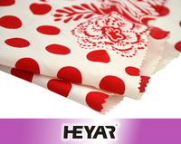 50*50/144*80 Polka Dot and Floral Printed Cotton Poplin Fabric