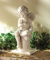 Excellent white marble Stone angel Statue /status/Carving