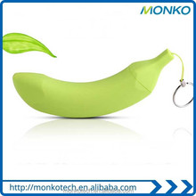 Banana Power Bank 2600mah/Mini Keychain Manual for Battery Charger Power Bank/Portable Mobile Phone Powerbank