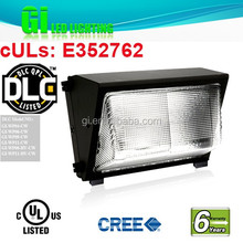 UL DLC listed outdoor wall pack 40w available in US warehouse with 6 years warranty