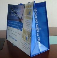 cheap fashion fold bag/ best sale ultrasonic die cut non woven bags/ handle non woven shopping bags