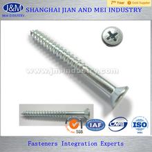 Cross recessed raised countersunk head wood screws