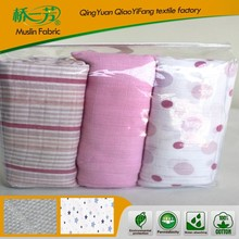 Spring New Design 70% Bamboo and 30% Cotton Muslin Baby Blanket