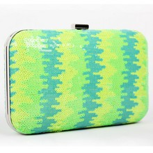 B146 2015 new explosion models selling wholesale Bright green female evening bag