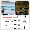Keytop car parking system with multiple colors parking space indicator-bays finder system