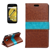 Crazy Horse Texture Flip Leather Wallet Cover Case for Motorola Moto E 2nd Gen 2015