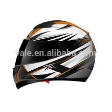 una calidad de la motocicleta completa la cara visera de sol gafas de doble casco