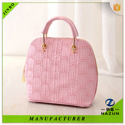 wholesale cheap hot sales new design pink color PU fashion tote bag for women