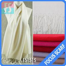 twill white plain pashmina scarf shawl wholesale