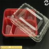 China supplier plastic tray with lid lunch box