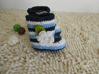 handmade crochet baby shoes kids new stripe shoes footwear for babies