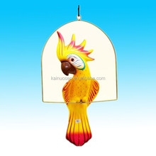 glazed craft decorative ceramic bird hanging