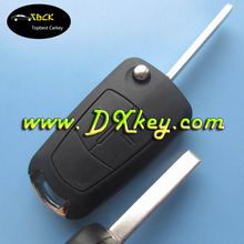 Hot selling 2 buttons car key replacement for opel Vectra key opel key with HU100 blade