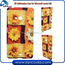 heat printing 3D sublimation case cell phone cover for Microsoft Nokia Lumia 540 with vacuum oven jigs tool
