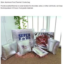 Aluminum Foil Cooler Bags for Cake Chocolate or Ice Cream