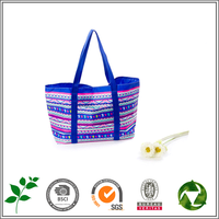 National flavor royalblue 600D PVC shopping bag