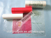 Producir biodegradables bolsas en rollo para la alimentación, material de plástico producir rollo de bolsa