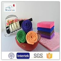 New wholesale fashion design wochuan textile all kinds of color china bath microfiber towel