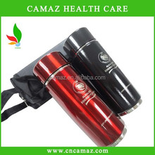 420ml Stainless steel Nano alkaline energy water cup for alkaline water PH 8.5, silver, black,red,blue color Can OEM