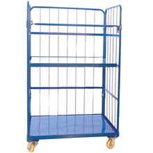 Foldable Logisitc Laundry Storage Security Roll Container, Roll Trolley JS-TRC05