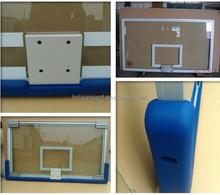 aluminium frame tempered glass basketball backboard with padding