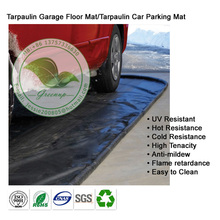 Durable Flame Retardant Black Tarpaulin Garage Floor Car Parking Mat