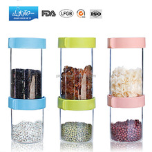 cwg001 kitchen storage food safe glass food container with airtight lid