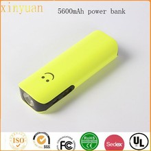 Shenzhen mobile power supply USB mobile portable source 5600mAh powerbank