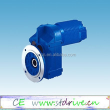 ST Drive Brand F37- F157 model helical solid shaft helical gearbox speed reducer