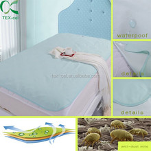 waterproof and breathable flat bird eye bed sheet