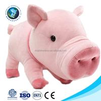 Top selling cheap plush soft toy pink pig lifelike cute stuffed soft plush pink pig dog toy