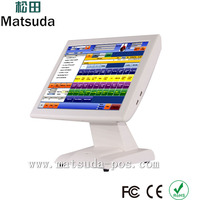 i3 1.8GHz15 inch touch screen pos payment system for restaurant and supermarket