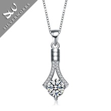 Wholesale 925 Silver Necklace Accessory Rhodium Plated Solid Silver Pendants