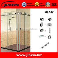 Frameless Glass Rectangular Shower Room Stainless Steel Sliding Door Accessories