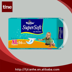 strech ear baby diaper made in china and super absorption baby diaper