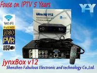 North america work with all diseqc fta satellite receiver jb200 module turbo 8psk channels full hd jynxbox ultra hd v12