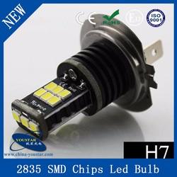 New! 12V - 24V DC H7 2835 15SMD Canbus No Error Free Led Fog Light