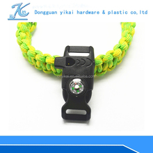 New outdoor camping hiking flint buckle/emergency survival gear/camping flint buckle with whistle